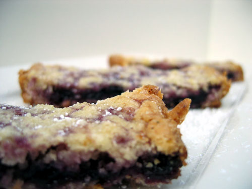 Blueberry Port Chutney Shortbread Bars