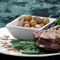 Pork-Stuffed Leg of Lamb and Lamby Cranberry Beans